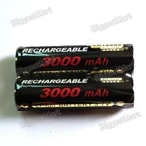 2 Pcs Sony 18650 3000mAh Rechargeable Li-ion 3.7V Batteries
