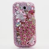 3D Luxury Swarovski Crystal Sparkle Diamond Bling Pink Peacock Design Case Cover for Samsung Galaxy S4 S 4 IV i9500 fits Verizon, AT&T, T-mobile, Sprint and other Carriers (Handcrafted by BlingAngels®)