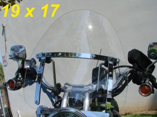 Smoke Motorcycle Windshield Windscreen for Harley Davidson Sportster Dyna Glide Softail Honda Kawasaki Suzuki Yamaha Cruiser Savage Intruder Volusia Boulevard Vulcan Vn