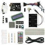 サインスマート Arduino(Uno) をはじめよう互換キット 初心者専用Arduino基本チュートリアルプロジェクト付き!十種類選択可!(16プロジェクト、1602 LCD含む!)