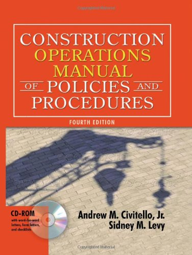 Construction Operations Manual of Policies and Procedures...