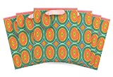 The Gift Wrap Company Ana Davis Gift Bags (Set of 6), Bull's Eye, Medium, Multicolor