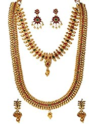 Beeline KEMP STONE KAJU DESIGNED NECKLACE SETS DULHAN WEDDING WEAR KEMP Choker Style And Long NECKLACE SET In...