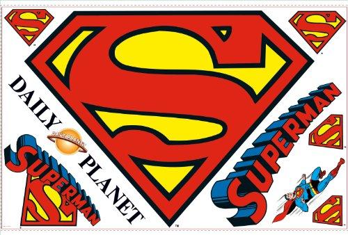 RoomMates RMK1462SLM Superman Logo Peel & Stick Giant Wall Decal - 1