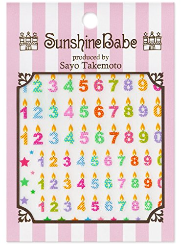 SunshineBabe ネイルシール Birthday Candle