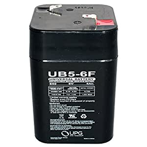 UPG UB650F Lantern - AGM Battery - Sealed Lead Acid - 6 Volt - 5 Ah Capacity - F1 Terminal