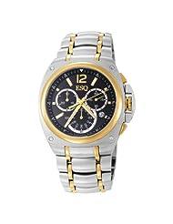ESQ by Movado Men's 7301357 Bracer Chronograph Two-Tone Black Dial Watch