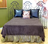 Ultra Soft Faux Fur Shag Bedspread Bedcover Bedding Chocolate Brown King