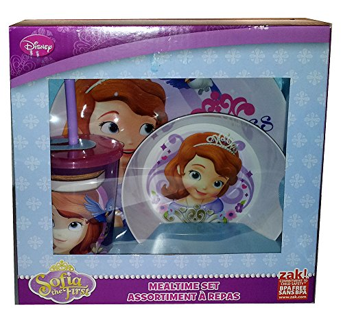 Zak! Disney Sophia the First 3 Piece Mealtime Set