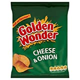 Golden Wonder Cheese And Onion Crisps Full Box of 32 x 37.5g Bags