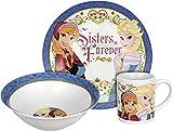 Disney Frozen Sisters Forever 3-Piece Dinnerware Set