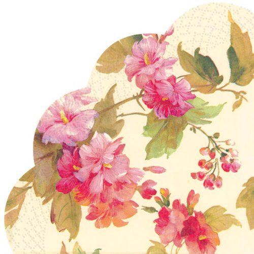 Ideal Home Range 12 Count Decorative Paper Napkins, Rondo, Summer Beauty Cream