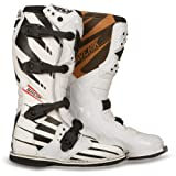 Fly Racing Maverik Adult MX Boots - F4 White with MX Sole - size 7