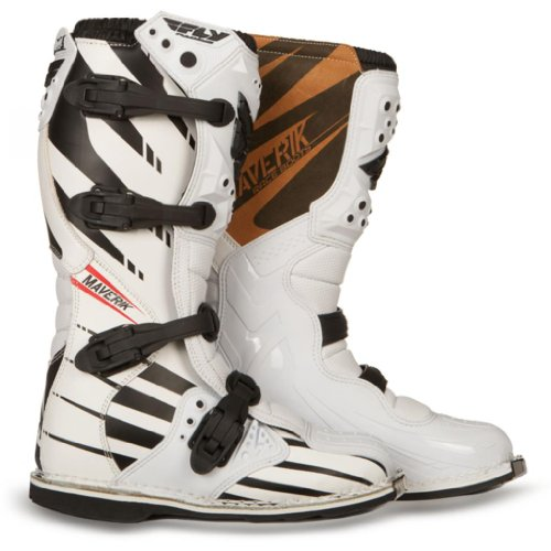 Fly Racing Maverik Adult MX Boots - F4 White with MX Sole - size 13