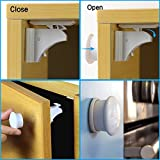 Deulia-Magnetic-Baby-Safety-Cabinet-Locks-Smart-Hidden-Drawer-Locks-Great-Choice-for-Baby-Proofing-Magnetic-Locking-Set-of-4-Locks-1-Key