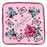 ベッツィージョンソン BetsyJohnson ハンカチ ハンドタオル タオルハンカチ タオル ロゴ刺繍 レディース ピンク 並行輸入品 AMI587