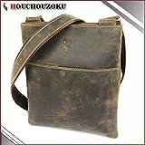 本革 ショルダーバッグ HOUCHOUZOKU 庖丁族 メンズ 本革 革 斜め掛け ショルダーバッグ スマートな新型 オイル革製のショルダーバッグ995539CF (COFFEE)