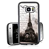 S7 Case Samsung Galaxy S7 Black Cover TPU Rubber Gel - Restoring ancient ways is the Eiffel Tower