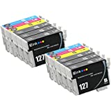 E-Z Ink (TM) Remanufactured Ink Cartridge Replacement For Epson 127 Extra High Yield (6 Black, 2 Cyan, 2 Magenta, 2 Yellow) 12 Pack T127120 T127220 T127320 T127420