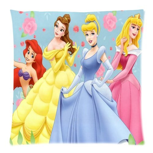 Stylish Design Standard Size 18X18 Two Side Print Disney Little Girls Princess Cute Cartoon For Children Girls Pillowcases Protector For Kids-1 front-875647