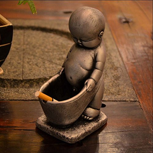 Jooyi® Vintage Personality Creative Eco-friendly Paint Ashtray Ornaments Table Ashtray Cigar Cigarettes Ash Tray Home Decoration Décor Fantasy Crafts Gifts (Pee Baby, Silver)