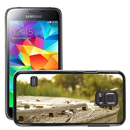 Carcasa Funda Prima Delgada SLIM Casa Case Bandera Cover Shell para // M00150040 Legno Broke Outdoor Vecchia Struttura // Samsung Galaxy S5 MINI SM-G800