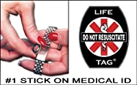 Do Not Resuscitate Medical ID Tags 5-pack FREE STANDARD SHIPPING by LIFETAG.com