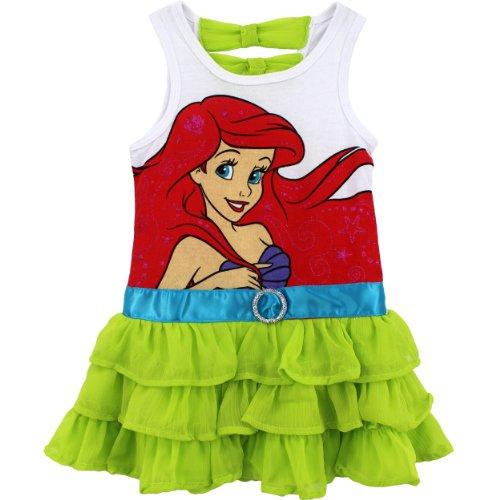 Little Mermaid Ariel Toddler White Dress (5T)
