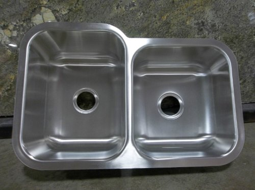 Revere Stainless Steel Sinks : Elkay Revere NCFU312010R 60/40 Undermount Stainless Steel 18 gauge ...