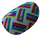 Chix Nails Nail Wraps Zingy Weave Coloured Rainbow Designer Fingers Toes Vinyl Foils Minx Trendy Style