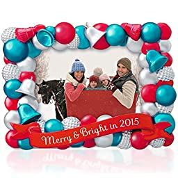 Merry & Bright Photo Holder Ornament 2015 Hallmark
