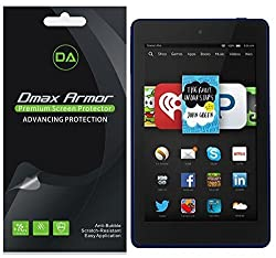 [3-Pack] Dmax Armor- Amazon Fire HD 6 Screen Protector High Definition Clear Shield - Lifetime Replacements Warranty- Retail Packaging