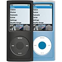 Xtrememac TuffWrap 2-Pack Silicone Case for iPod Nano 4G - Black/Clear
