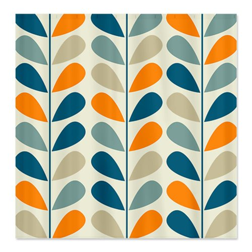 CafePress Retro Pattern Shower Curtain   Standard White