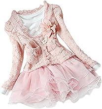 iiniim Girls Princess Party Top Shirt Tutu Flower Dress Jacket Outfit Set