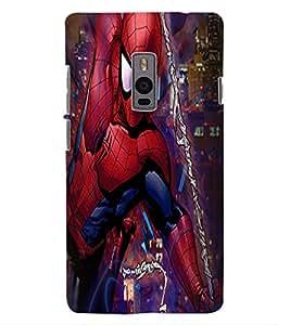 ColourCraft Superhero Design Back Case Cover for OnePlus Two