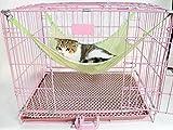 JUST 猫ちゃんの快適空間 涼しい さらさら ハンモック 犬 猫 ペット ベッド ネコ 小型犬 小動物に! (L, グリーン)