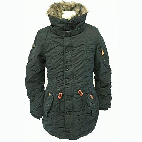 Khujo giacca invernale cappotto da donna Clam Snow nero L