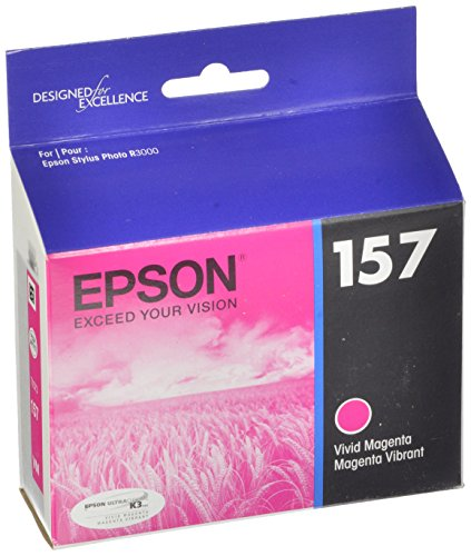 Epson UltraChrome K3 157 Inkjet Cartridge (Vivid Magenta) (T157320)
