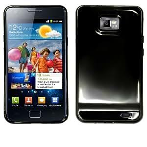 Slabo TPU Schutzhülle für Samsung I9100 Galaxy S II   Galaxy S 2 - SCHWARZ