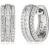 Esprit Damen-Creolen 925 Sterling Silber Zirkonia Exquisite ESCO91687A000