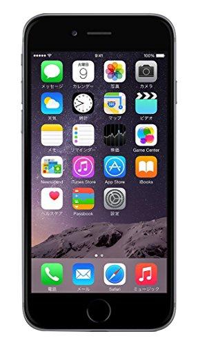 Apple au iPhone6 16GB A1586 スペースグレイ [MG472J/A]