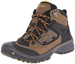KEEN Men\'s Logan Mid Outdoor Boot, Dark Earth/Tawny Olive, 11 M US