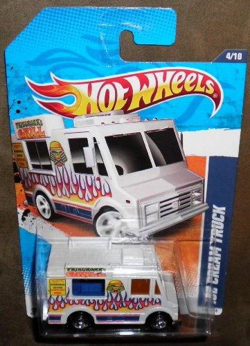 2011 HOT WHEELS HW CITY WORKS 174/244 WHITE FRIBURGER'S GRILL ICE CREAM TRUCK 4/10