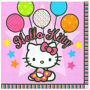 Hello Kitty Balloon Dreams Beverage Napkins 16ct 2ply