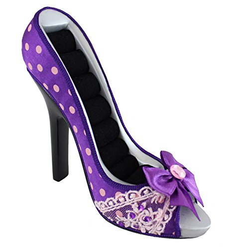 jacki-design-polka-dot-romance-peep-toe-shoe-ring-holder-purple-jgs23005