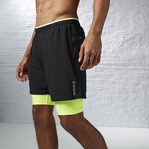 Reebook RE 2-1 Short-Pantaloncini da uomo