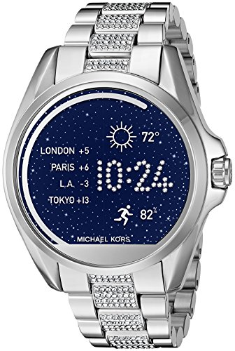 Michael-Kors-MKT5000-Digital-Bradshaw-Silver-Tone-Access-Touch-Screen-Smartwatch