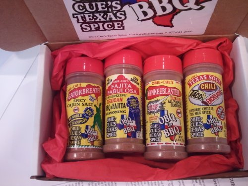 Obie-Cue's Texas Gift Box, 4 bottles - Southern