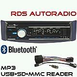 RDS-MP3-Autoradio-fr-Smart-for-Two-1998-2007-mit-UKWMW-MP3-USB-SD-Bluetooth-Freisprecheinrichtung